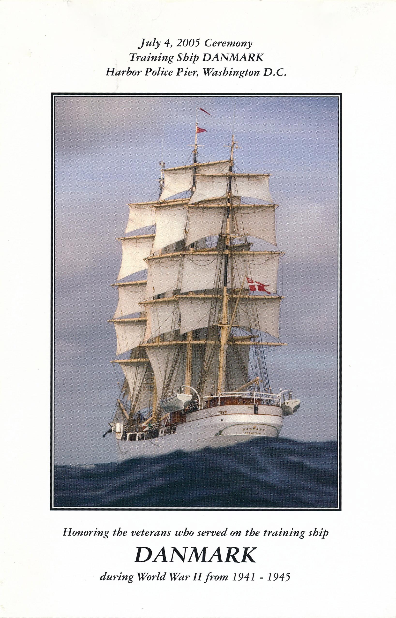 Art  on Canvas The Kingdom of Denmark Full-Rigged Three Masted Ship DANMARK